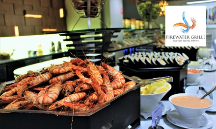 AYCE Seafood & Asian Inspired Lunch Buffet + Wine 45, 2 $90 or 4 Ppl $180, Firewater Grille at Duxton Hotel