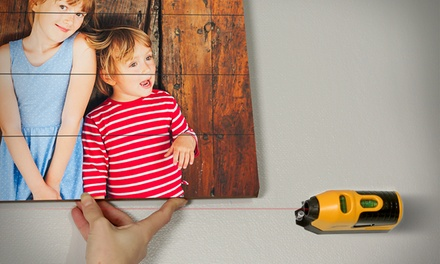 Photo on Wood Planks with Free Picture-Hanging Laser Level from Photography.com (Up to 81% Off). Three sizes.