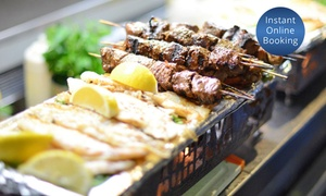 Achelya: Turkish Metre-Long Mixed Grill and Wine for Two ($49) or Four ($95) at Achelya, Docklands (Up to $180 Value)