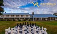 Rotorua: Up to 3 Nights for Two, Late Check-Out, Tennis and Kayaking at 4* VR Rotorua Lake Resort