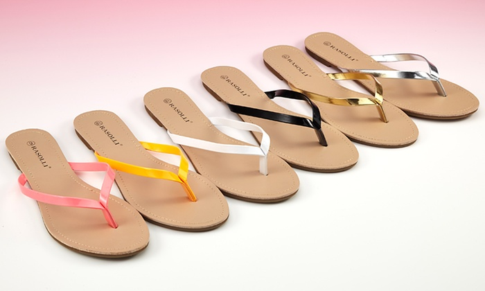 Rasolli Flat Thong Sandal: $17.99 for a Flat Thong Sandal ($39.99 List Price). Multiple Colors and Sizes Available. Free Shipping and Returns.