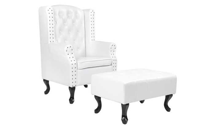 Incredible Chesterfield Stoel Met Bankje Groupon Goods Lamtechconsult Wood Chair Design Ideas Lamtechconsultcom