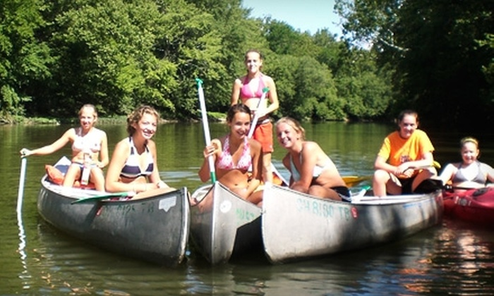 Barefoot Canoe - West Milton: $14 for Two-Person Canoe Ride from Barefoot Canoe ($28 Value)