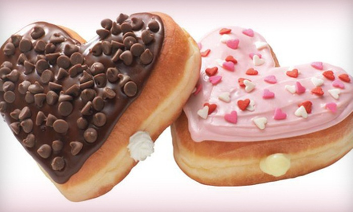 Dunkin' Donuts - Multiple Locations: Donuts and Coffee for Two or One or Two Dozen Donuts at Dunkin' Donuts (Up to 56% Off)