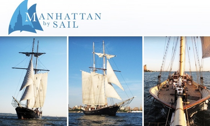 Manhattan By Sail - New York City: $39 Open-Bar Cruise with Manhattan by Sail