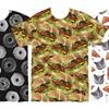Men's Big Food Print T-Shirts