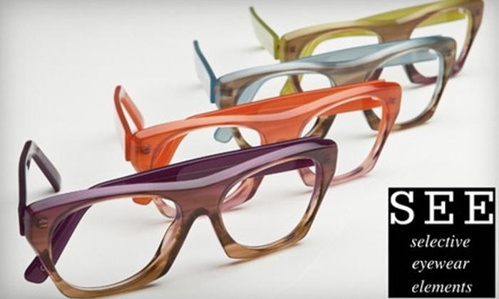SEE Eyewear - City Center: $50 for $200 Worth of SEE Eyewear Prescription Eyeglasses or Sunglasses