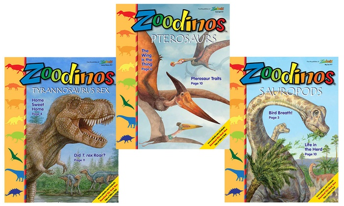 "Zoobooks: 6-issue Dinosaur Magazine—New One-Year ""Zoodinos"" Subscription (Up to 75% Off)"