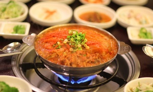 One or Two Korean Aged Kimchi Hot Pots and Appetizers for Two or Four at Muk Eun ji (57% Off)
