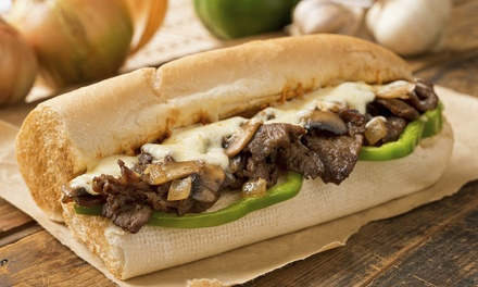 $20 or $40 Worth of Food and Drinks for Two or Four at Go Philly Cheesesteaks & Wings (45% Off)