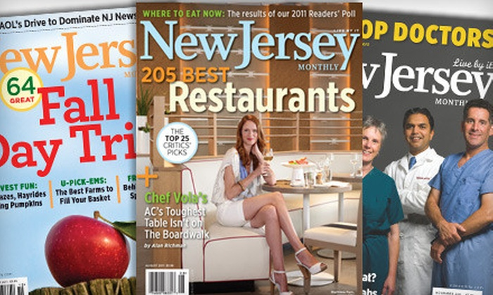 """""""New Jersey Monthly"""" - Middlesex: $9 for a One-Year Subscription to """"New Jersey Monthly"""" Magazine ($19.95 Value"""