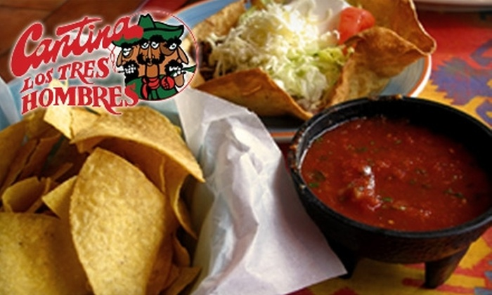 Cantina Los Tres Hombres - Trammell Crow Victorian Square: $12 for $25 Worth of Authentic Mexican Fare and Drinks at Cantina Los Tres Hombres