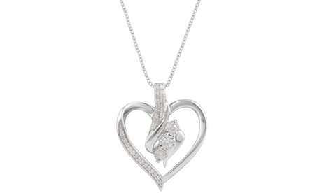 1/4 Cttw Diamond Miracle Plate Heart Pendant in Sterling Silver by Brilliant Diamond 2dc0881e-3ecb-11e7-88be-00259060b5da