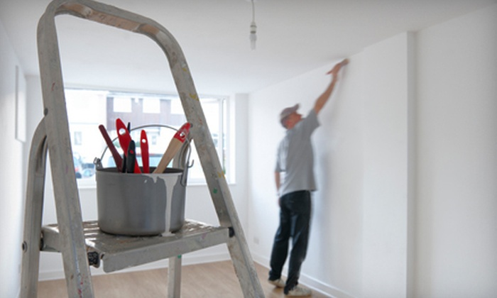 Heritage Painters - White Oaks: Painting for One, Three, or Five Rooms or an Exterior Door from Heritage Painters (Up to 85% Off)