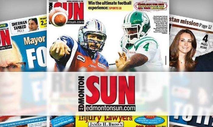 """Edmonton Sun - Edmonton: $36 for a 13-Week Subscription to the """"Edmonton Sun"""" (Up to $80.54 Value)"""
