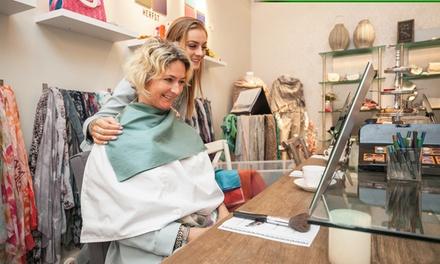 Workshop kleurenanalyse, stylingtips, visagie en foto's met mini high tea bij Miyos in Hoorn