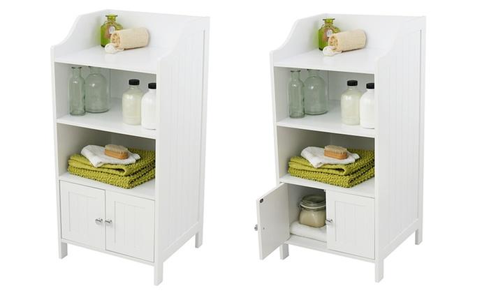 2-Door 3-Shelf Bathroom Cabinet