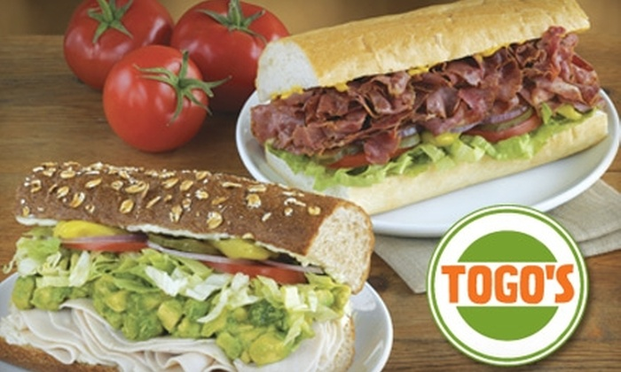 Togo's - Multiple Locations: Half Off Hearty Sandwiches and Salads or Catering Services at Togo's. Choose Between Two Locations.