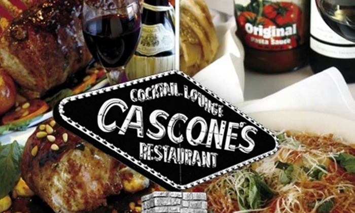 Cascone's Restaurants - Multiple Locations: $15 for $30 Worth of Italian Cuisine and Drinks at Cascone's Restaurants