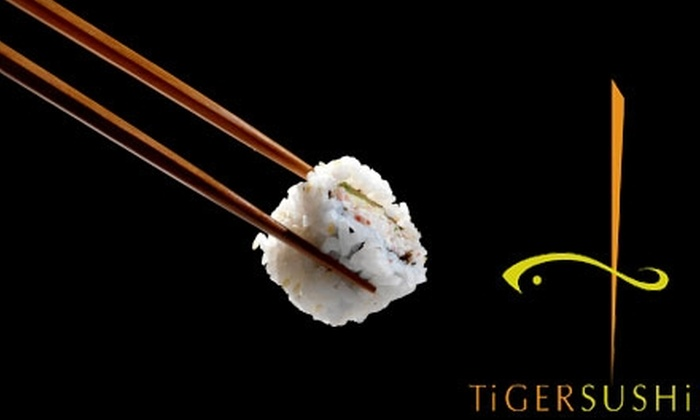Tiger Sushi 2 - Lyn-Lake: $15 for $30 Worth of Sushi and Drinks Plus Edamame at Tiger Sushi