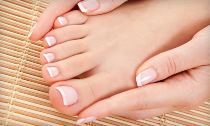 Luxury Nails & Hair - Airline/Jefferson: Spa Manicure & Spa Pedicure or Shellac Manicure & Spa Pedicure at Luxury Nails & Hair