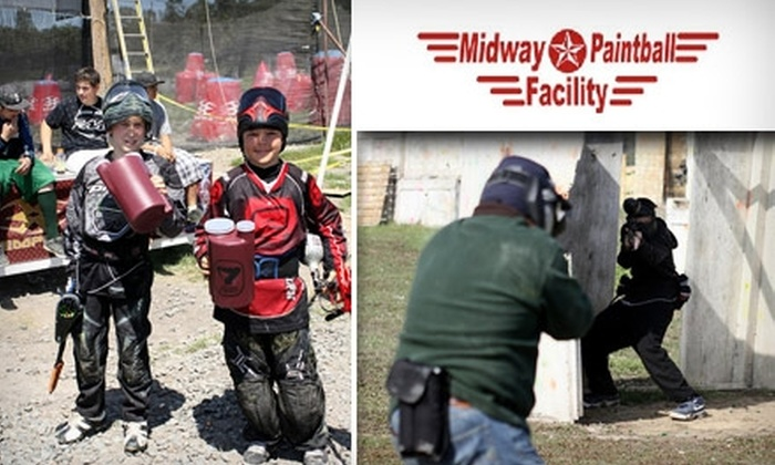 Midway Paintball - Vacaville: $25 for All-Day Entry, Equipment, and 200 Paintballs at Midway Paintball ($50 Value)