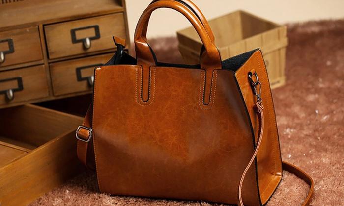 vente chaude en ligne 05118 6f108 Sac à main cuir italien | Groupon Shopping