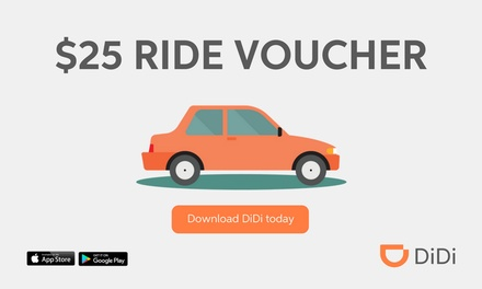 $5 for $25 Credit to Spend on First Ride with DiDi- New Customers Only