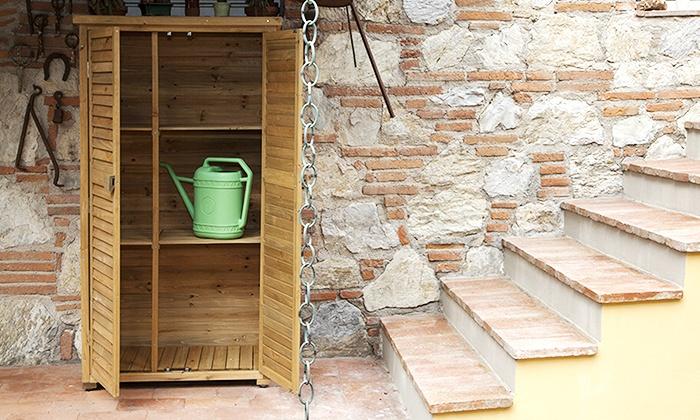 Armadio da esterno in legno | Groupon