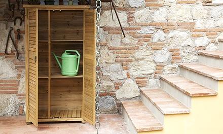 Armadio da esterno in legno groupon for Armadio esterno legno