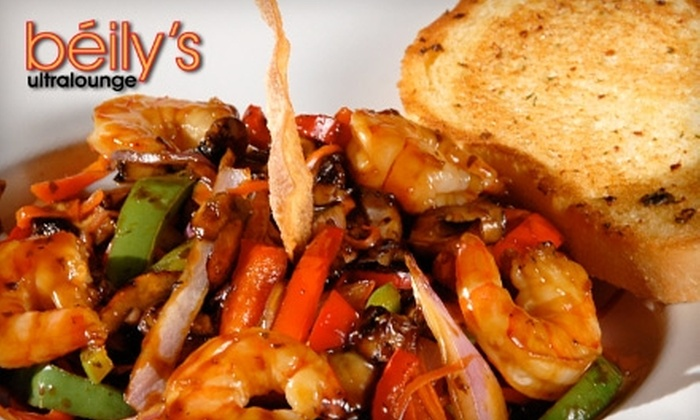 Béily's Ultra Lounge - Brevoort Park: $20 for $40 Worth of Hearty Fare and Drinks at Béily's Ultra Lounge