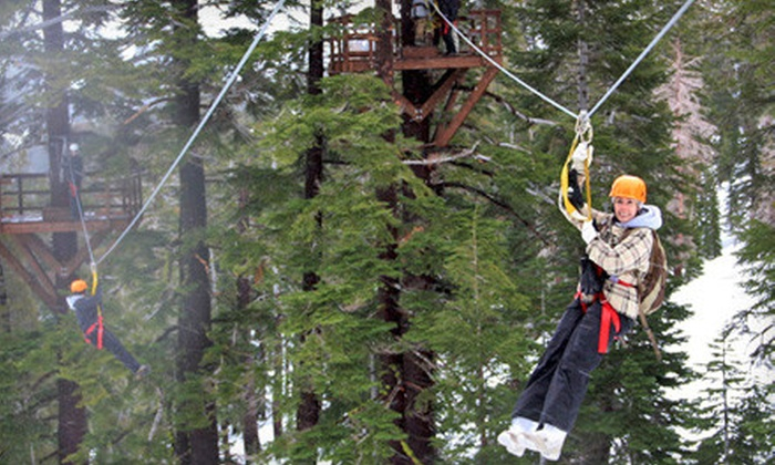 Zip Tahoe - McKinney Estates: $125 for a Zipline Experience for Two at Zip Tahoe in Kirkwood ($250 Value)