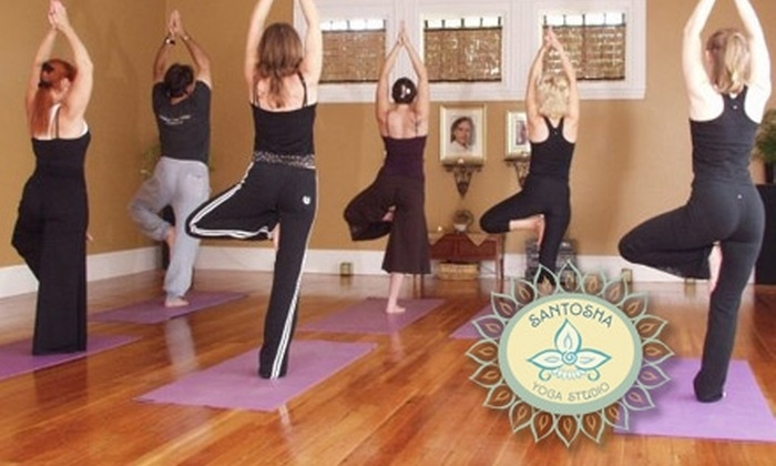 Santosha Yoga Studio - Cranston: $45 for One Month of Unlimited Yoga or $35 for a 60-Minute Thai Yoga Therapy Session at Santosha Yoga Studio