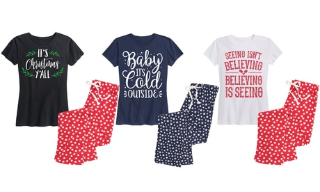 Women's Holiday Cotton Pajama Sets