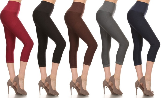 Women's Slimming High-Waisted Capris (3-Pack)