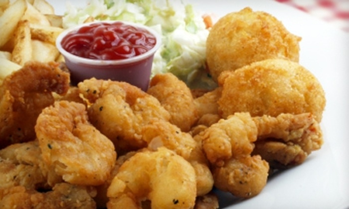 Original Frilly's Seafood Bayou Kitchen - Denton: $12 for $25 Worth of Cajun Fare and Drinks at the Original Frilly's Seafood Bayou Kitchen in Denton