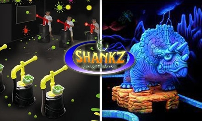 Shankz Black Light Miniature Golf - Multiple Locations: $11 for Two Rounds of Miniature Golf or One Round of Golf and One Round of Air Cannon Game, Plus Two Glow Necklaces at Shankz Black Light Miniature Golf
