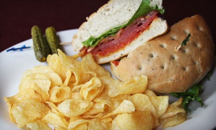 Main Street Cafe - Haymarket: Lunch for Two with Salads or Sandwiches and Drinks or Punch Card for Five Alcoholic Drinks at Main Street Cafe (Up to 67% Off)