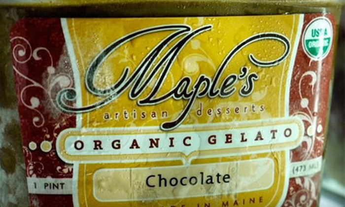 Maple's - South Portland: Artisanal Gelato and Sorbetto at Maple's. Three Options Available.