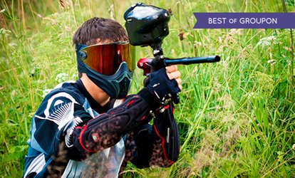 Paintballing With 100 Balls Each Plus Lunch from £5 For Two (Up to 92% Off)