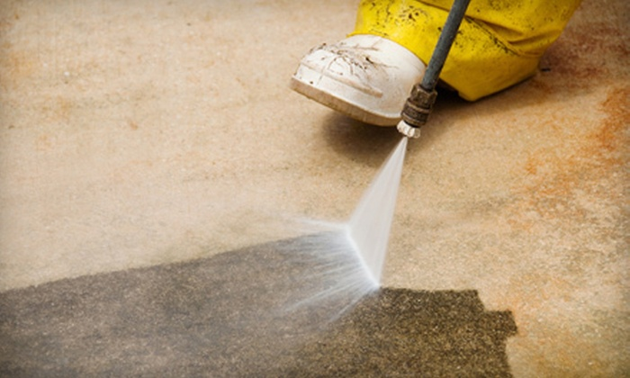 Master Blaster - Knoxville: Pressure Washing for Driveway and Sidewalk with Optional Deck Service from Master Blaster (Up to 53% Off)