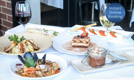ThreeCourse Italian Dinner with Wine for Two or Four People at Unico Ristorante Up to $294 Value