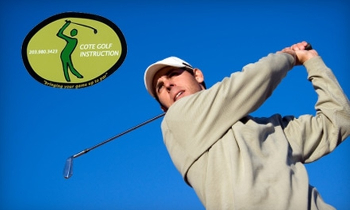 Cote Golf Instruction - Fairfield County: Indoor Golf Lessons from Cote Golf Instruction (Up to a $380 Value), Choose from Three Options.