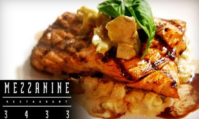 Mezzanine Restaurant 3433 - Carytown: $15 for $30 Worth of Innovative Cuisine at Mezzanine Restaurant 3433