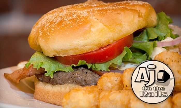 AJ on the Rails - Downtown: $7 for $15 Worth of American Soul Food and Drinks at AJ on the Rails