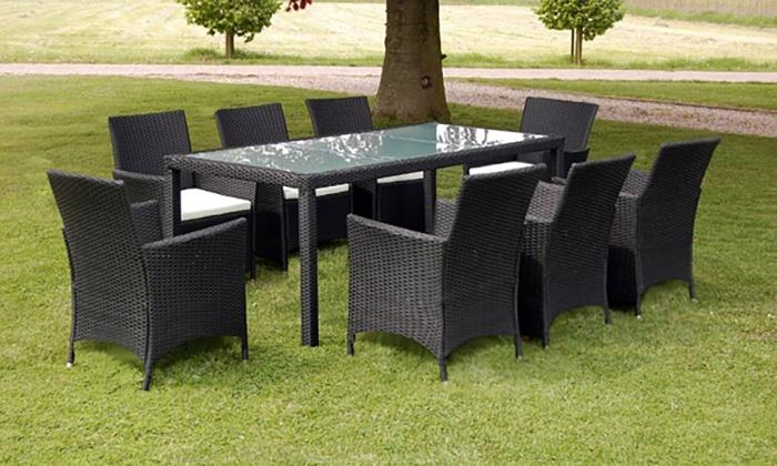 Rattan Garden Furniture Set Groupon Goods