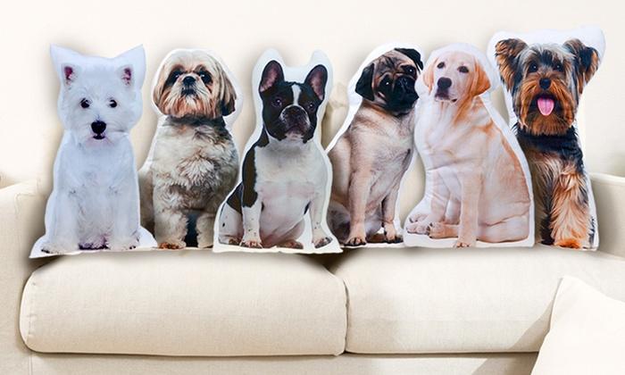 cuscino a forma di cane | groupon shopping