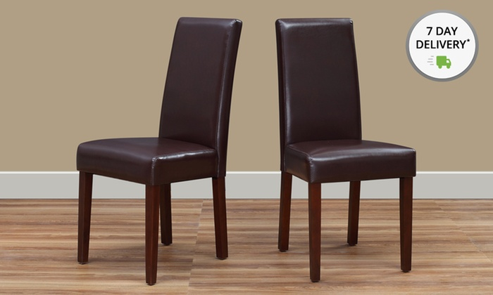 Set of 2 Simpli Home Acadian Parson Chairs.: Set of 2 Simpli Home Acadian Parson Chairs. Free Returns.
