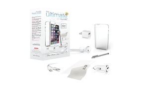 The Ultimate Bundle For Apple Iphone 6 With Case, Screen Guard, Lightning Cable, Usb Adapters, Headphones, And Stylus