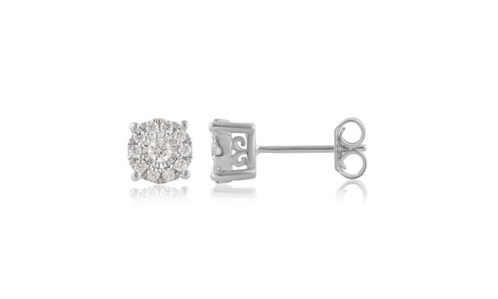 ed302dcb4 1/3 CTTW Diamond Stud Earrings in Sterling Silver by DiamondMuse